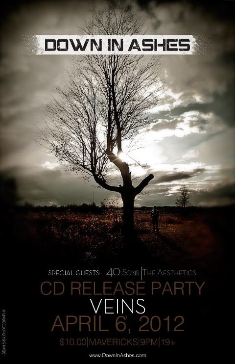Down In Ashes Veins Cd Release Poster