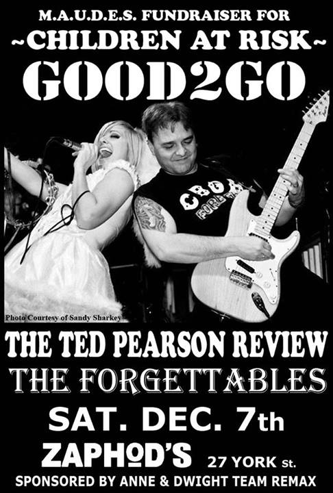 Good2go - Annual fundraiser for Children at Risk - concert poster