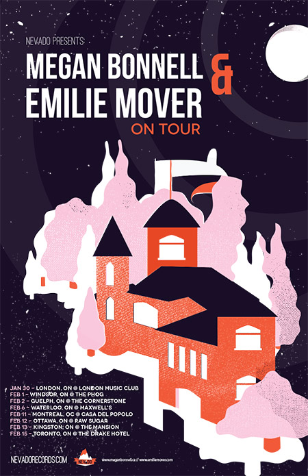 Megan Bonnell & Emilie Mover - tour poster