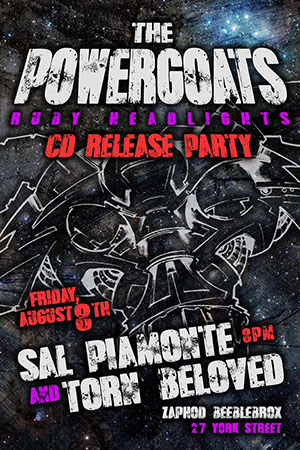 The Powergoats - cd release poster