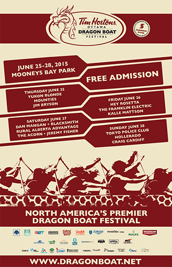 Ottawa Dragon Boat Festival 2015 poster