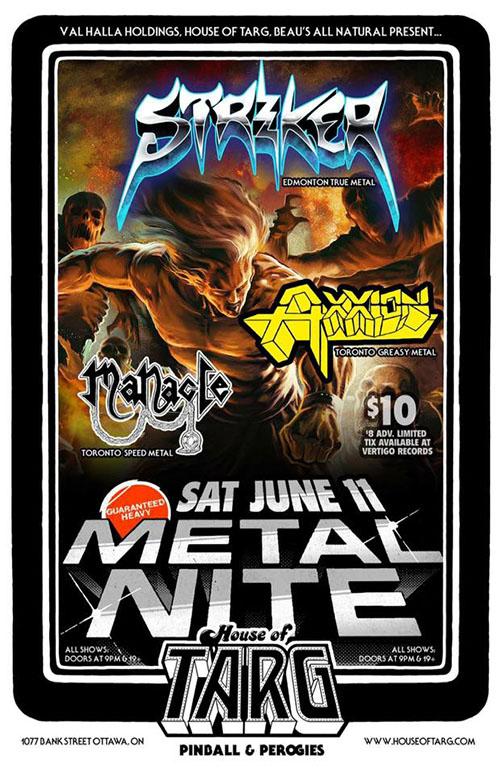 House of TARG - June 11 Metal Nite poster