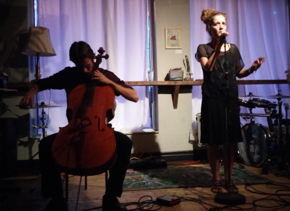 Raphael Weinroth-Browne and Heather Sita Black - The Visit at Pressed 2016-07-06