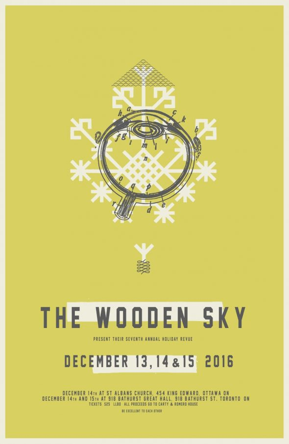 The Wooden Sky Holiday Revue poster