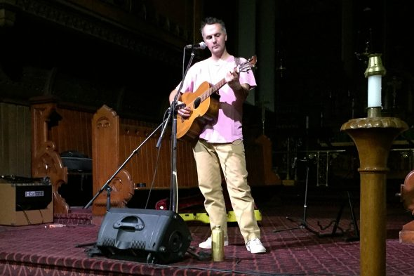 Mount Eerie at St Albans Church. Photo credit: Braeden Halverson