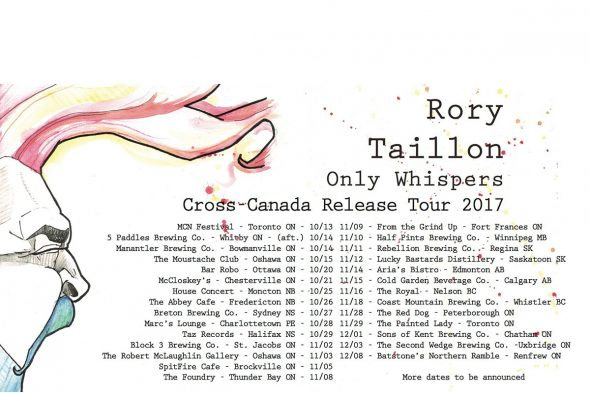 Rory Taillon Only Whispers release tour poster