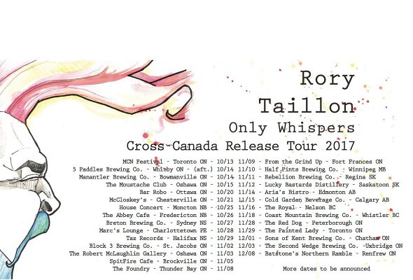 Rory Taillon will host Only Whispers release show at Bar Robo