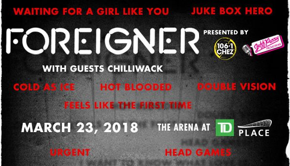 Foreigner mark 40th Anniversary with tour stop at TD Place