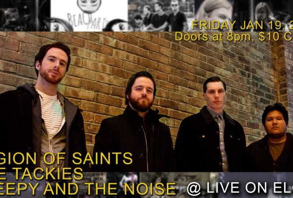 Legion of Saints, The Tackies, and Sleepy and the Noise will play LIVE! on Elgin