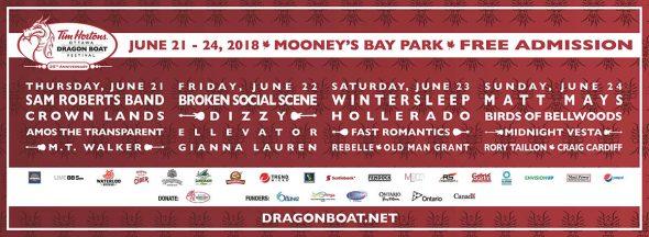 2018 Ottawa Dragon Boat Festival lineup
