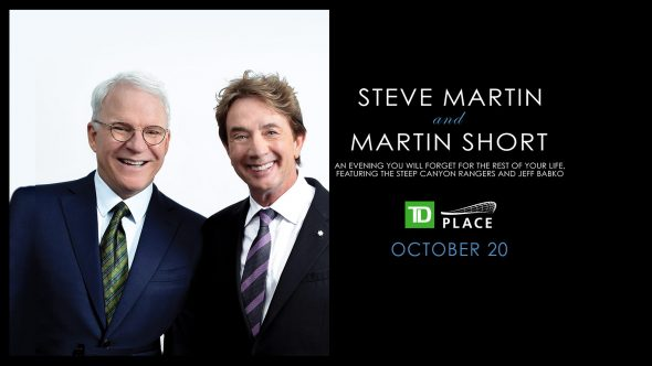 Steve Martin and Martin Short coming to TD Place